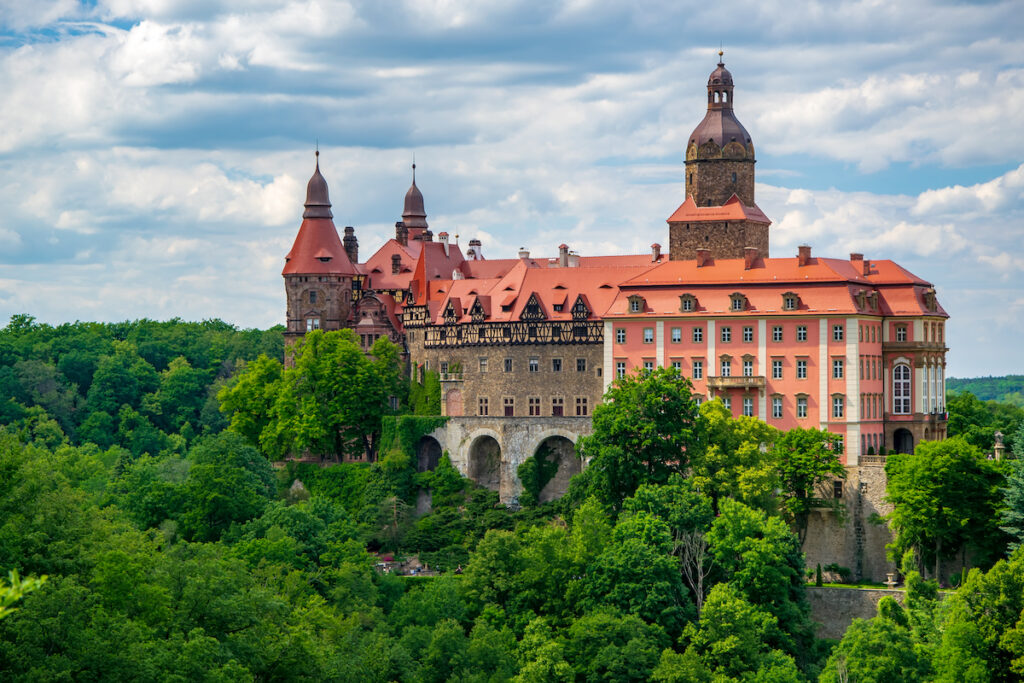 Ksiaz Castle in Walbrzych, Poland.