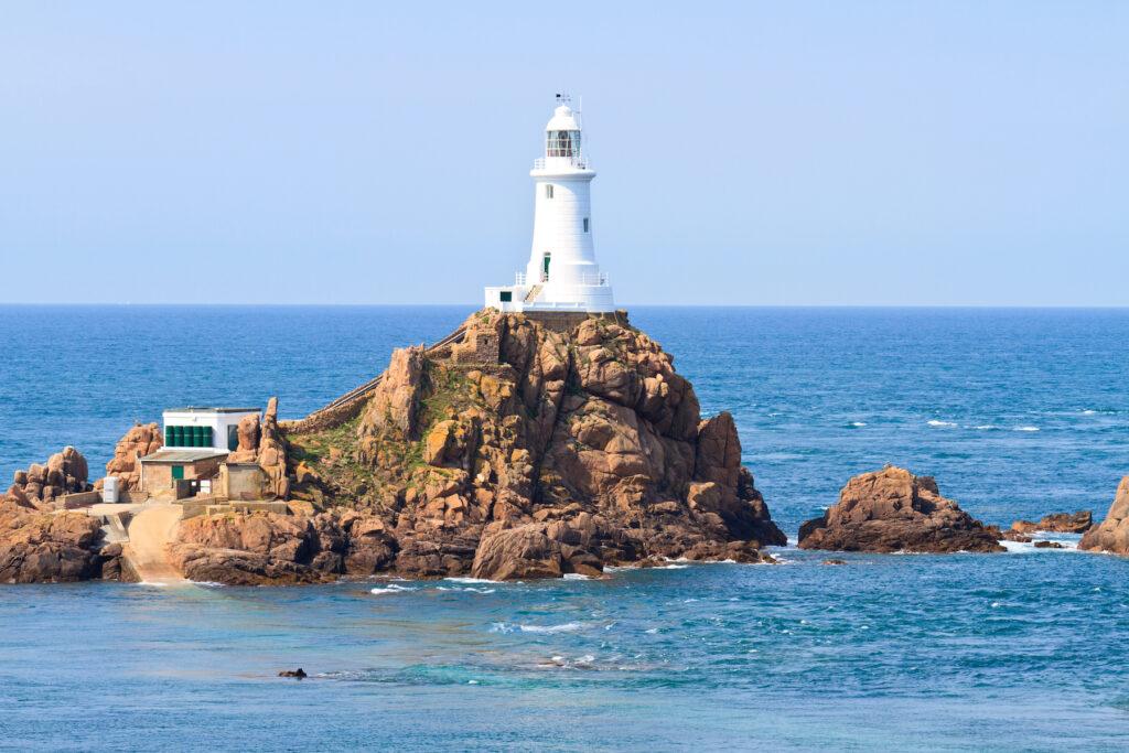 La Corbiere Lighthouse on Jersey Island.