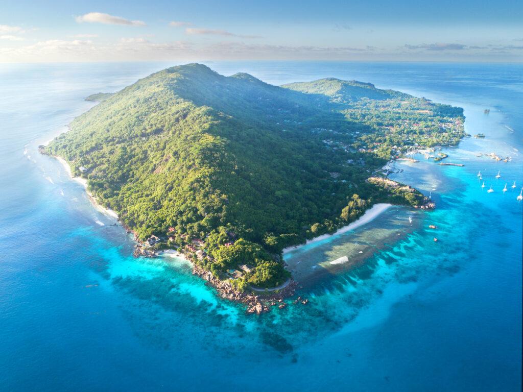 La Digue Island, part of the Seychelles.