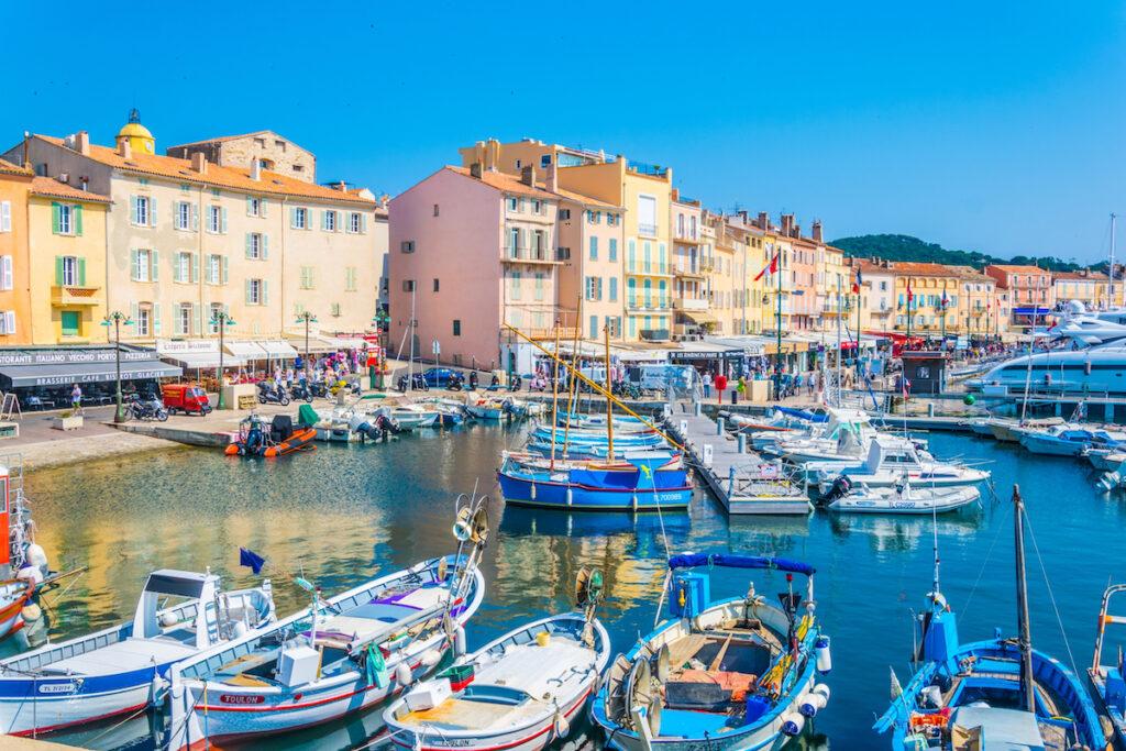 La Vieux Port in Saint Tropez, France.