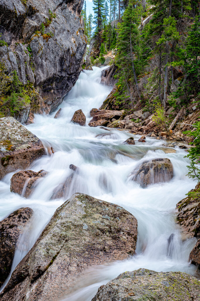 Lady Face Falls in Custer County, Idaho.