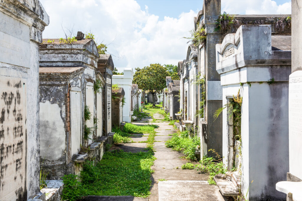 Lafayette Cemetery No. 1 in New Orleans.
