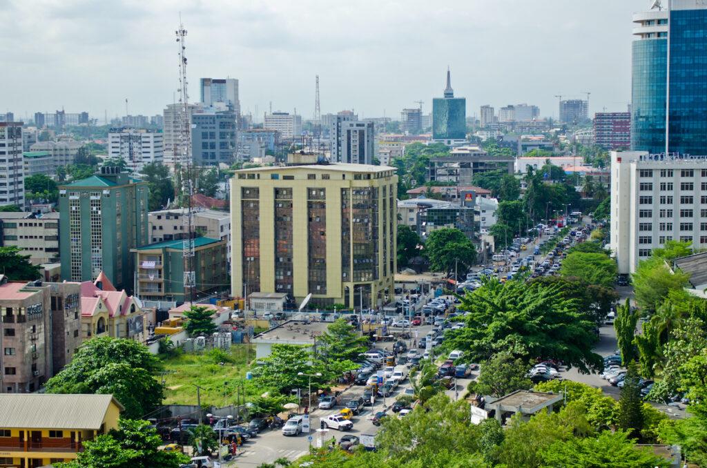 Lagos, the largest city in Nigeria.
