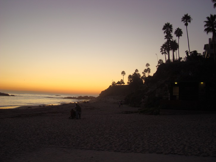 Laguna Beach at sundown
