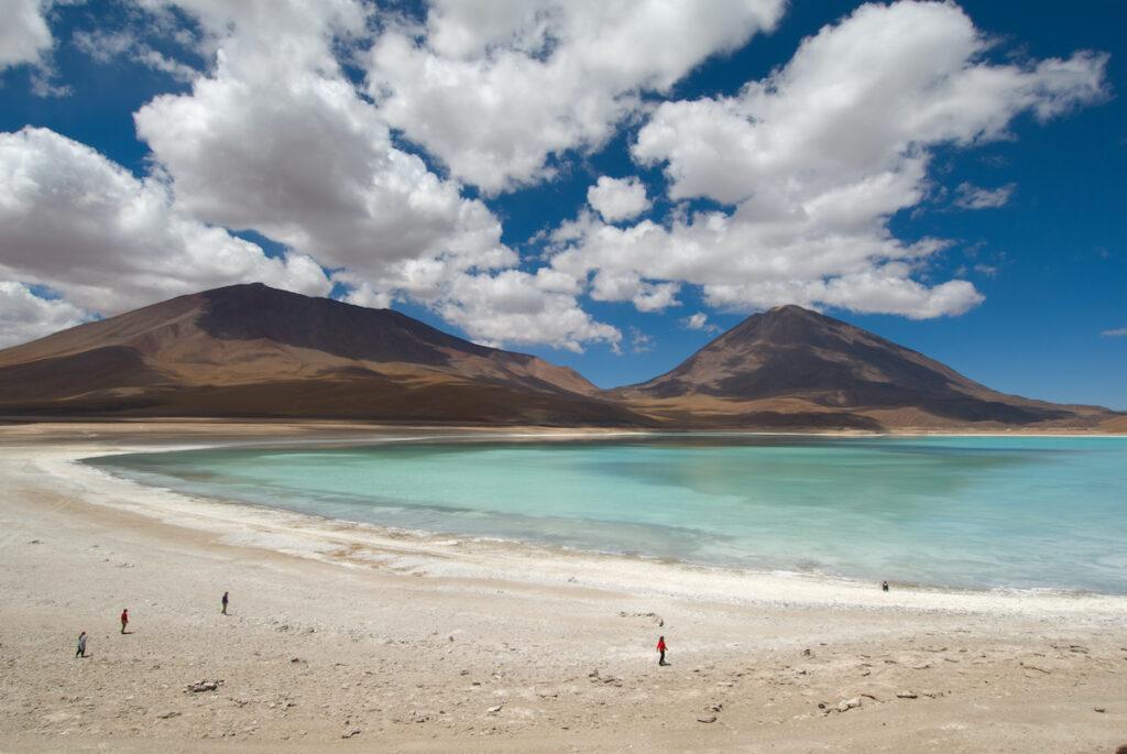 Laguna Verde near the Uyuni Salt Flats in Bolivia.