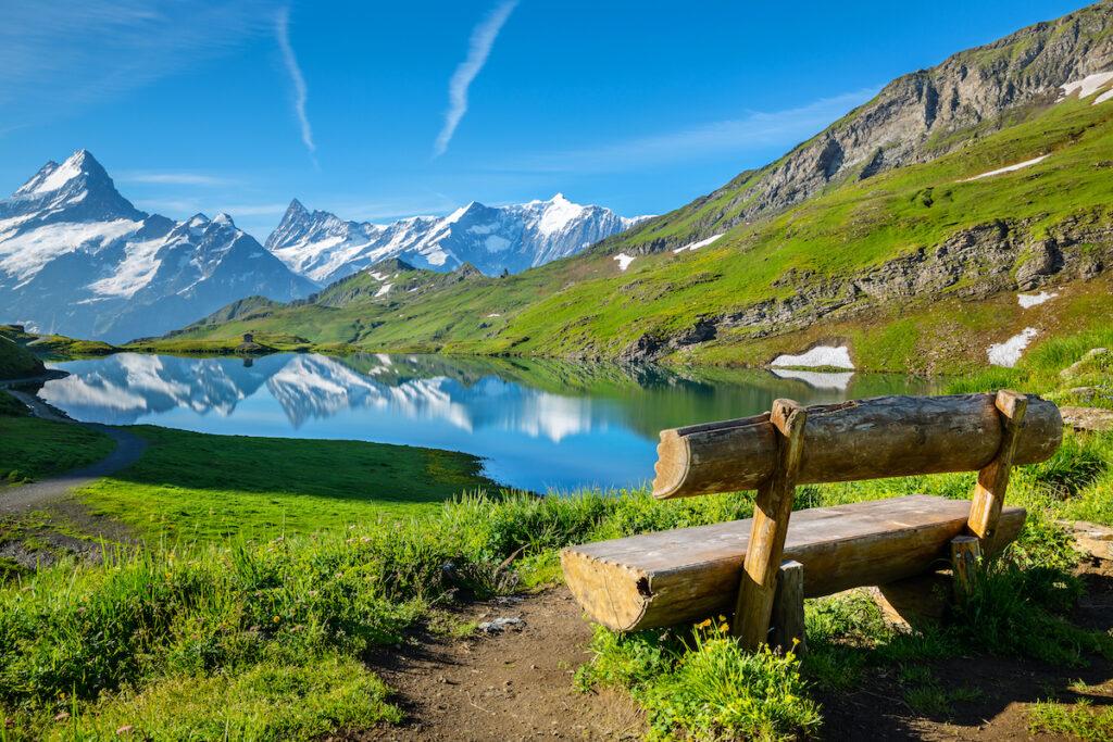 Lake Bachalp in Switzerland.