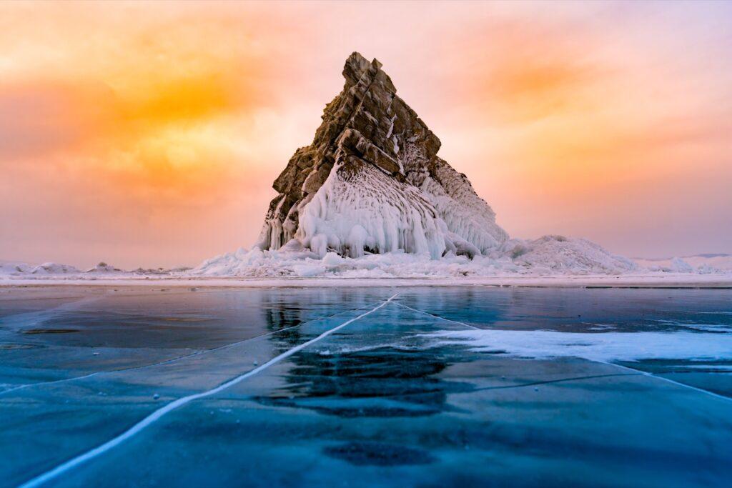 Lake Baikal in Russia.