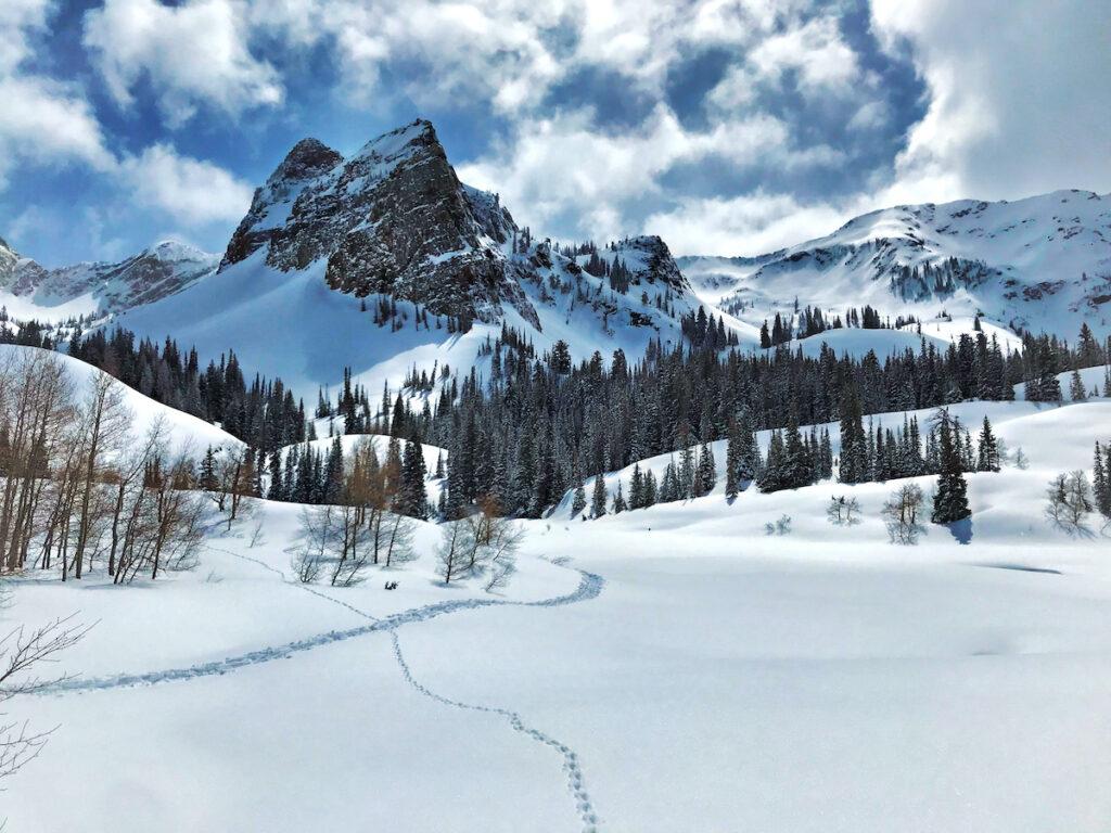 Lake Blanche Hiking Trail near Salt Lake City, Utah.