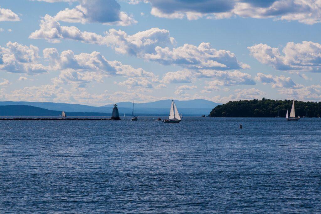 Lake Champlain in Burlington, Vermont.