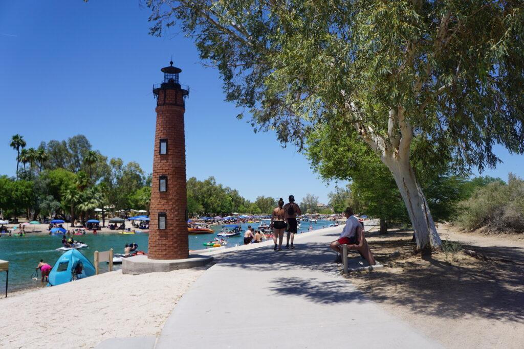 Lake Havasu City boardwalk in Arizona.