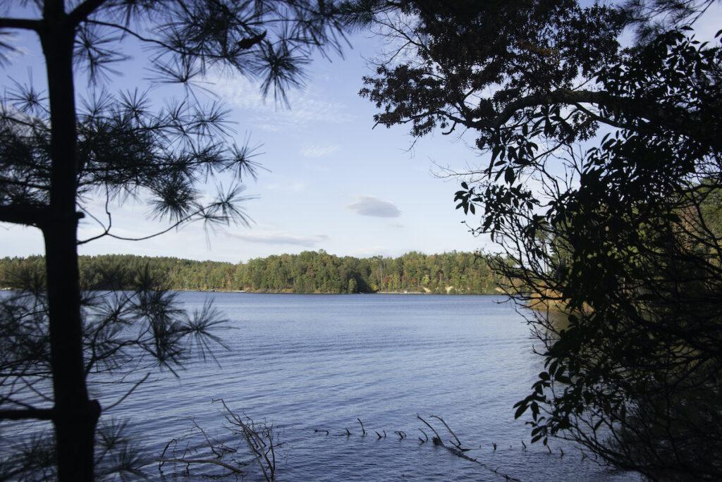 Lake James State Park in North Carolina.