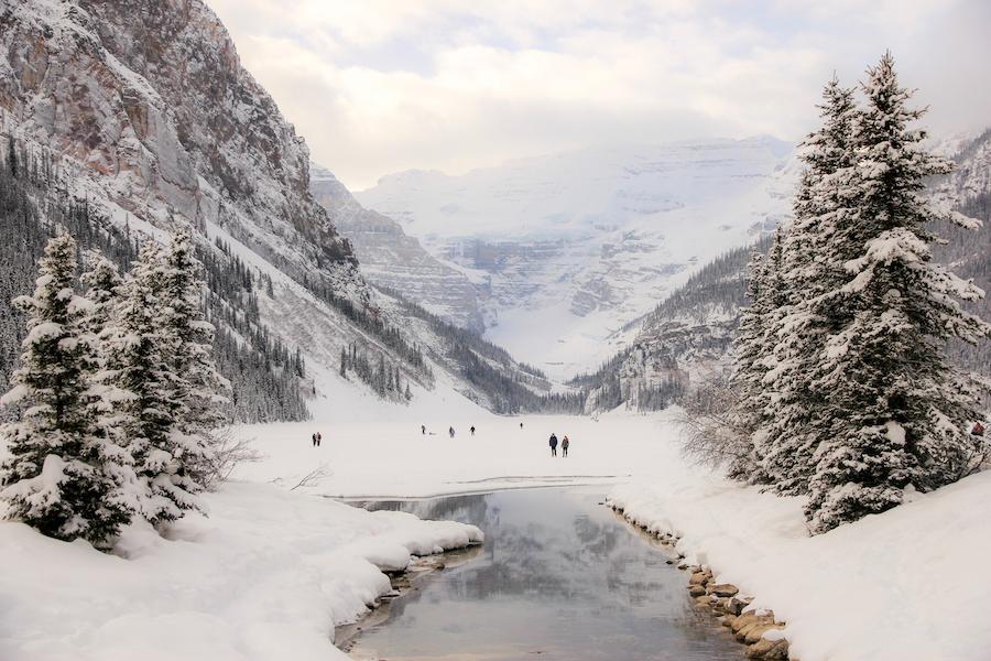 Lake Louise during winter time.