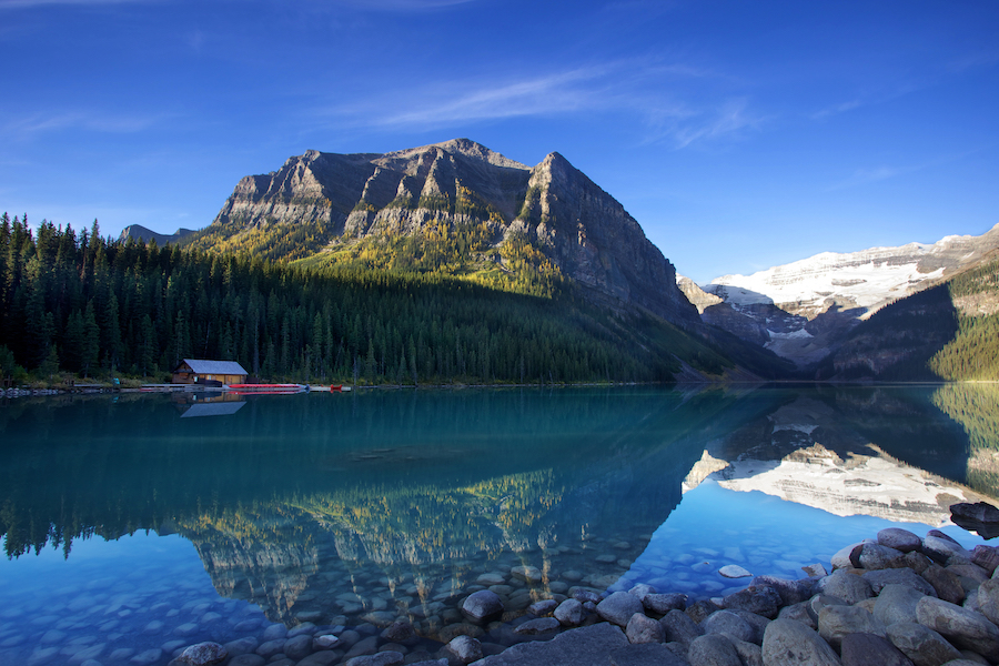 Lake Louise in Canada.