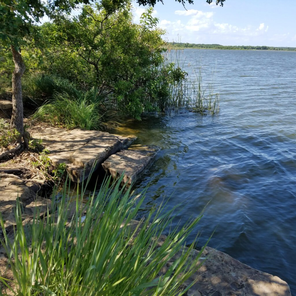Lake Mineral Wells State Park in Texas.