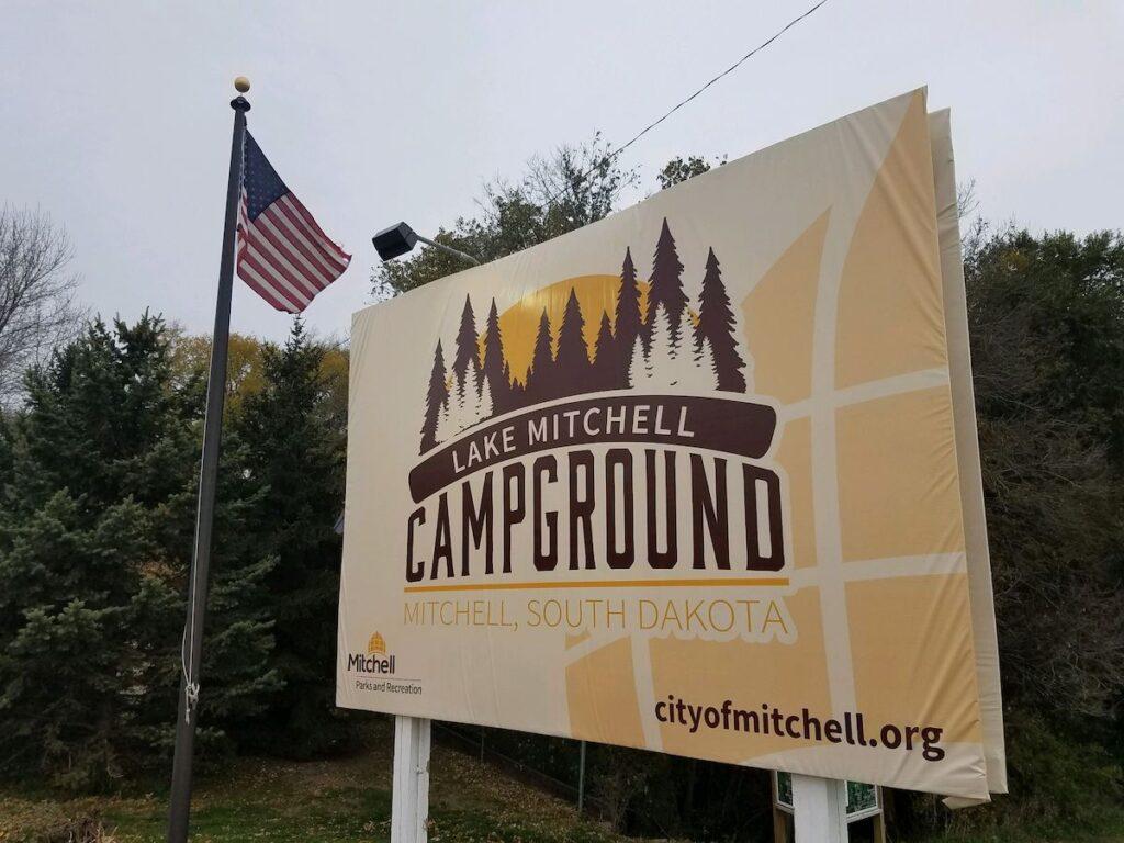 Lake Mitchell Campground in South Dakota.