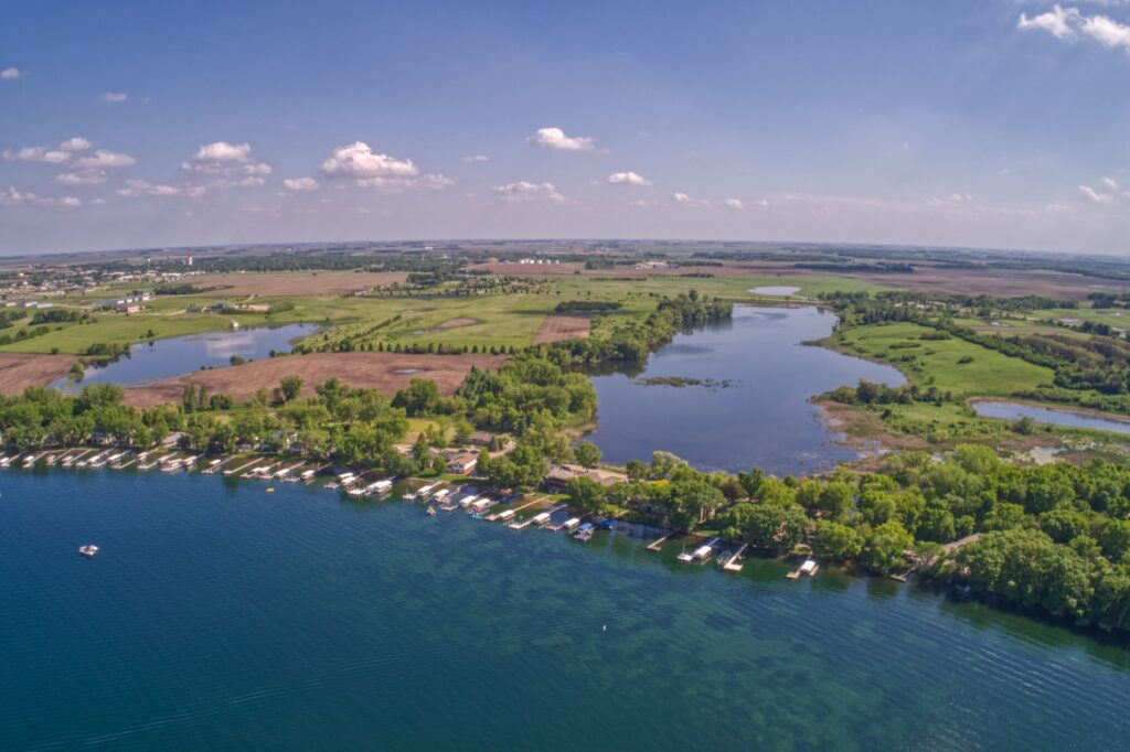 Lake Okoboji in Iowa.