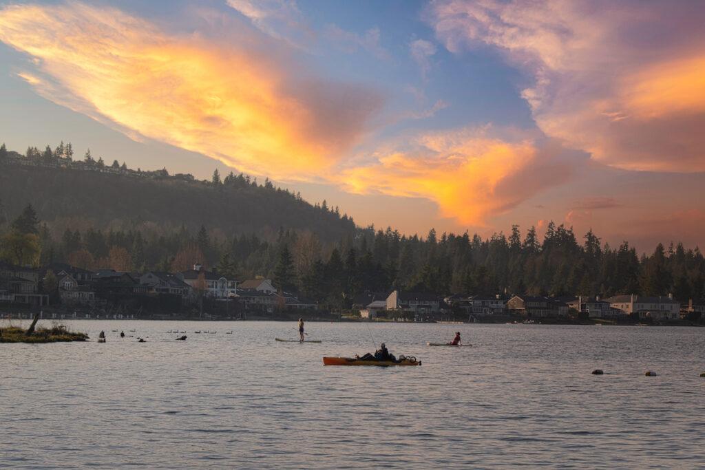 Lake Sammamish State Park near Seattle.