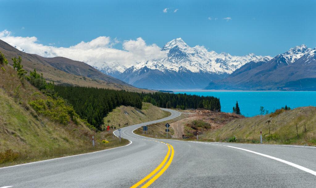 Lake Tekapo and Mount Cook in New Zealand.