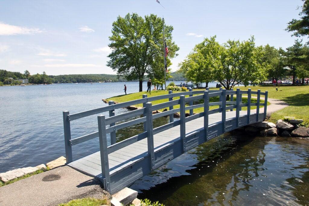 Lake Winnipesaukee in Meredith, New Hampshire.