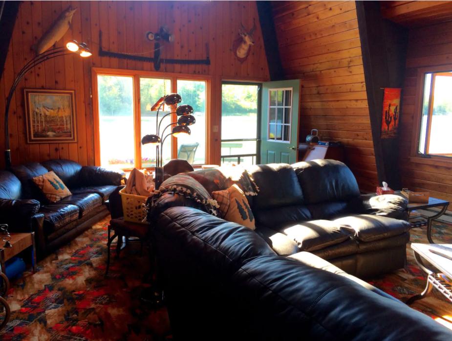 Lakefront cabin on a private island in Juggler Lake, Minnesota.