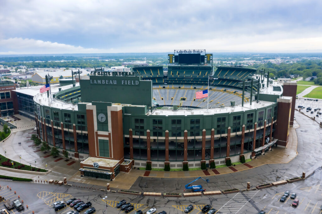 Lambeau Field, where the Packers play.