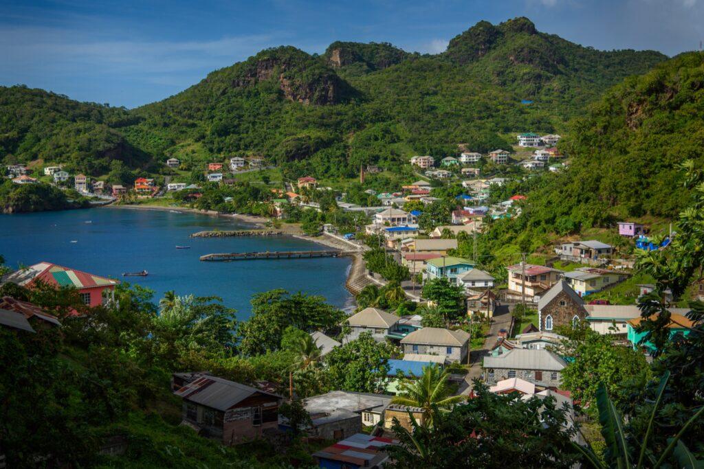 Landscape in Saint Vincent and the Grenadines.
