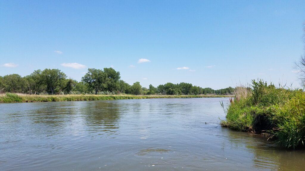 Landscape of Nebraska from the writer's tank.