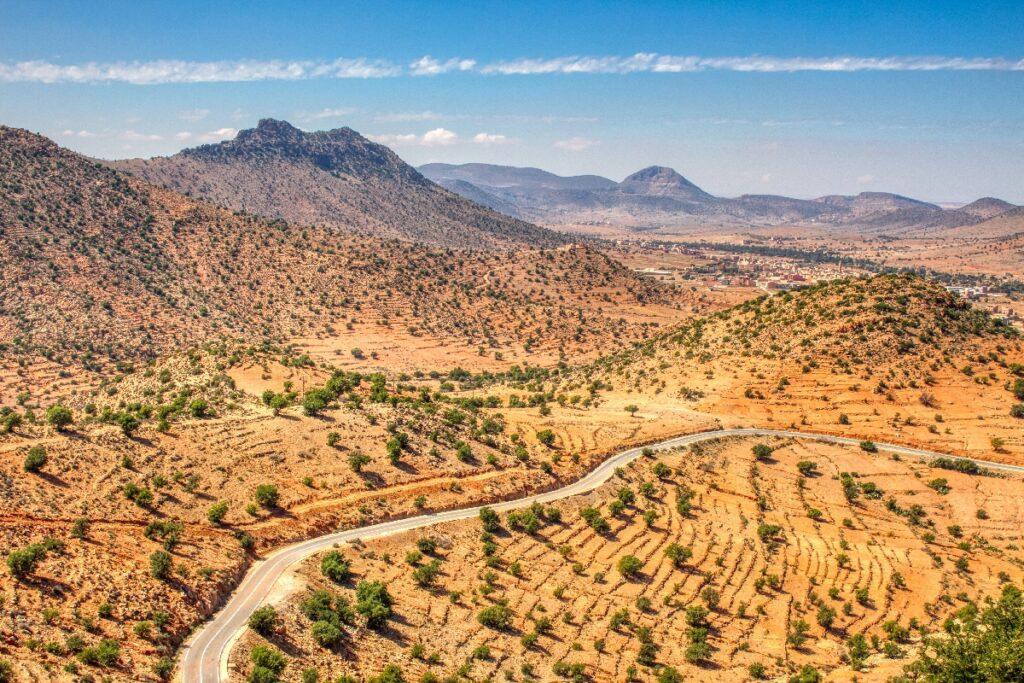 Landscape of Tafraoute, Morocco.