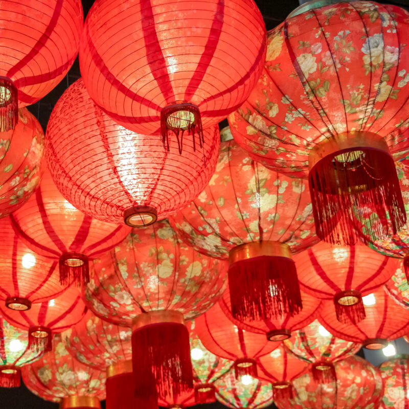 Lanterns to celebrate the Chinese New Year.