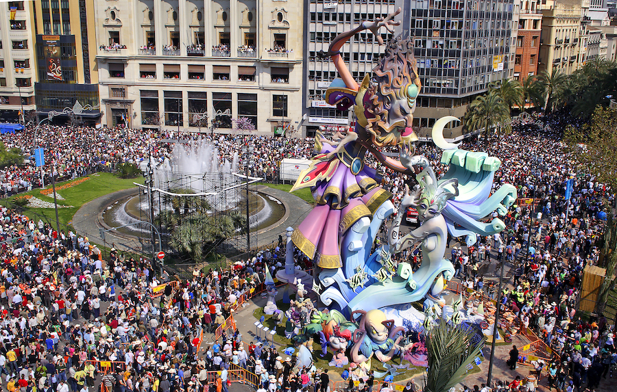 Las Fallas Festival in Valencia, Spain.