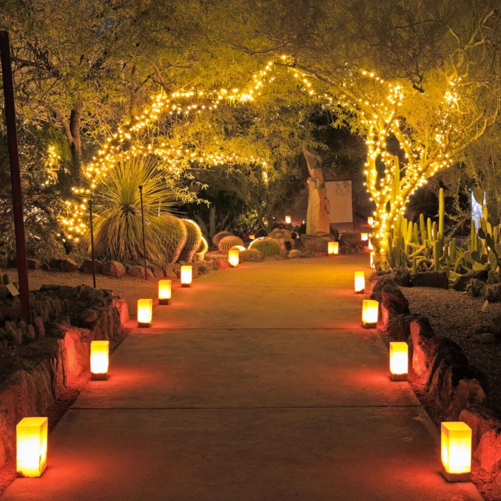 Las Noches de las Luminarias in Phoenix, Arizona.