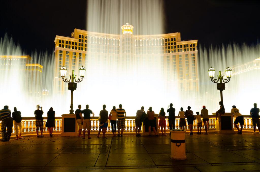 The Bellagio fountain in Las Vegas.