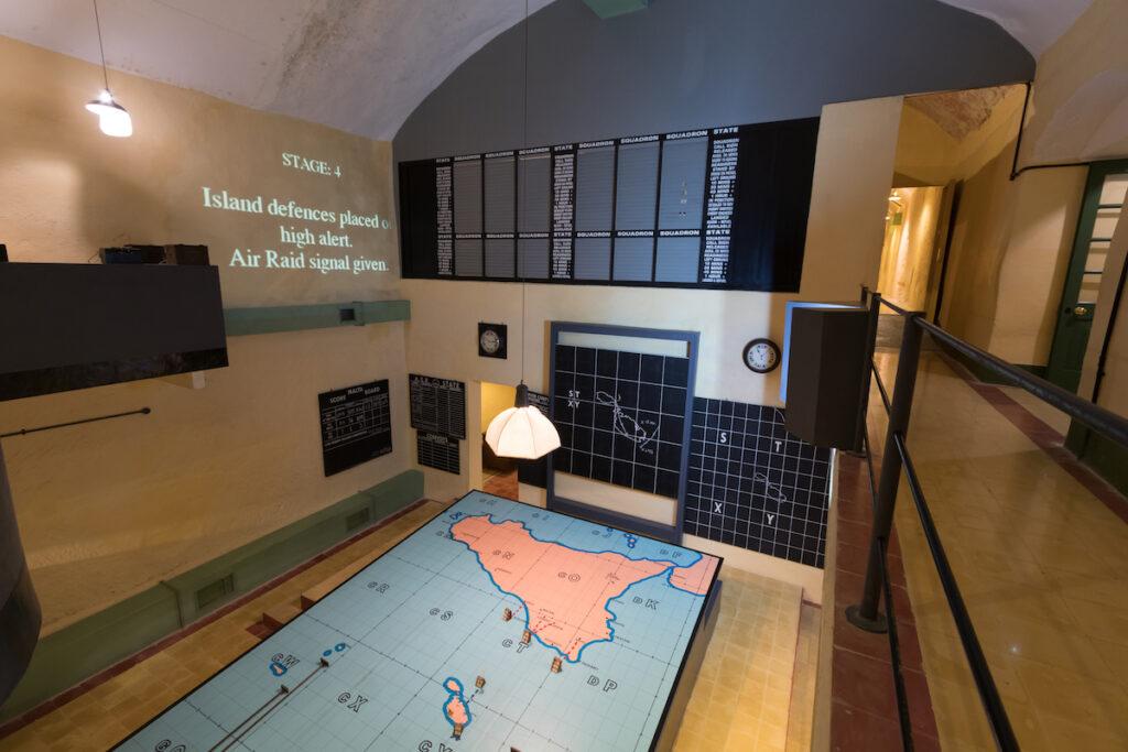 Lascaris War Rooms in Valletta, Malta.