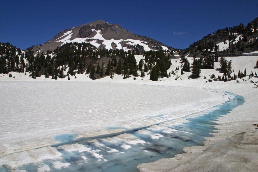 Lassen Volcanic National Park in the winter.