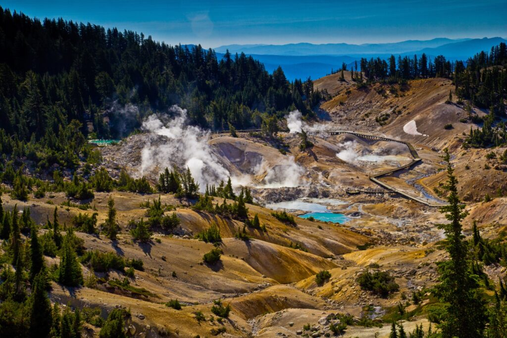 Lassen Volcanic National Park in California.