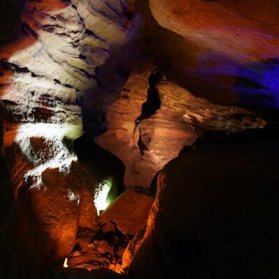 Laurel Caverns in Pennsylvania.
