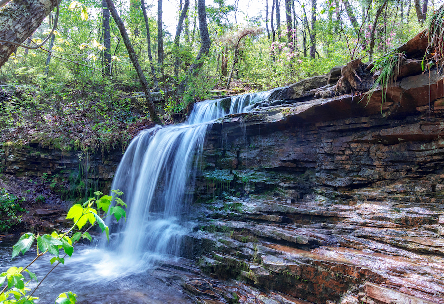 Laurel Falls in DeSoto State Park.