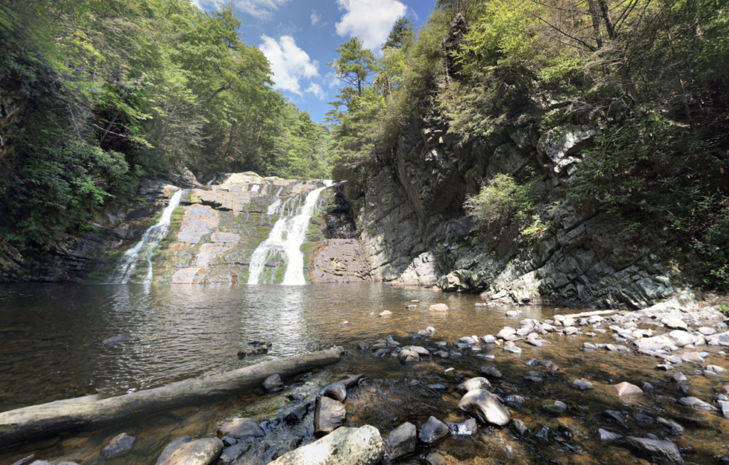 Laurel Falls in Tennessee's Cherokee National Forest.