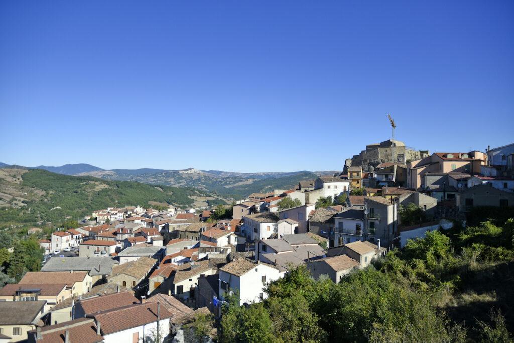 Laurenzana, Italy, homes.
