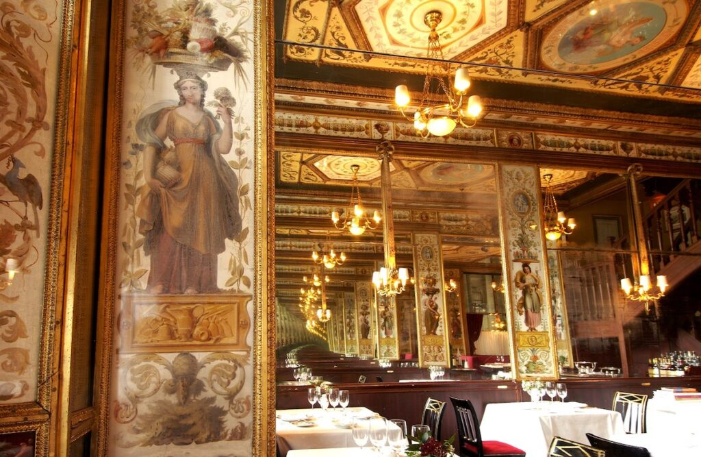 Le Grand Vefour, a restaurant in the Palais Royal.