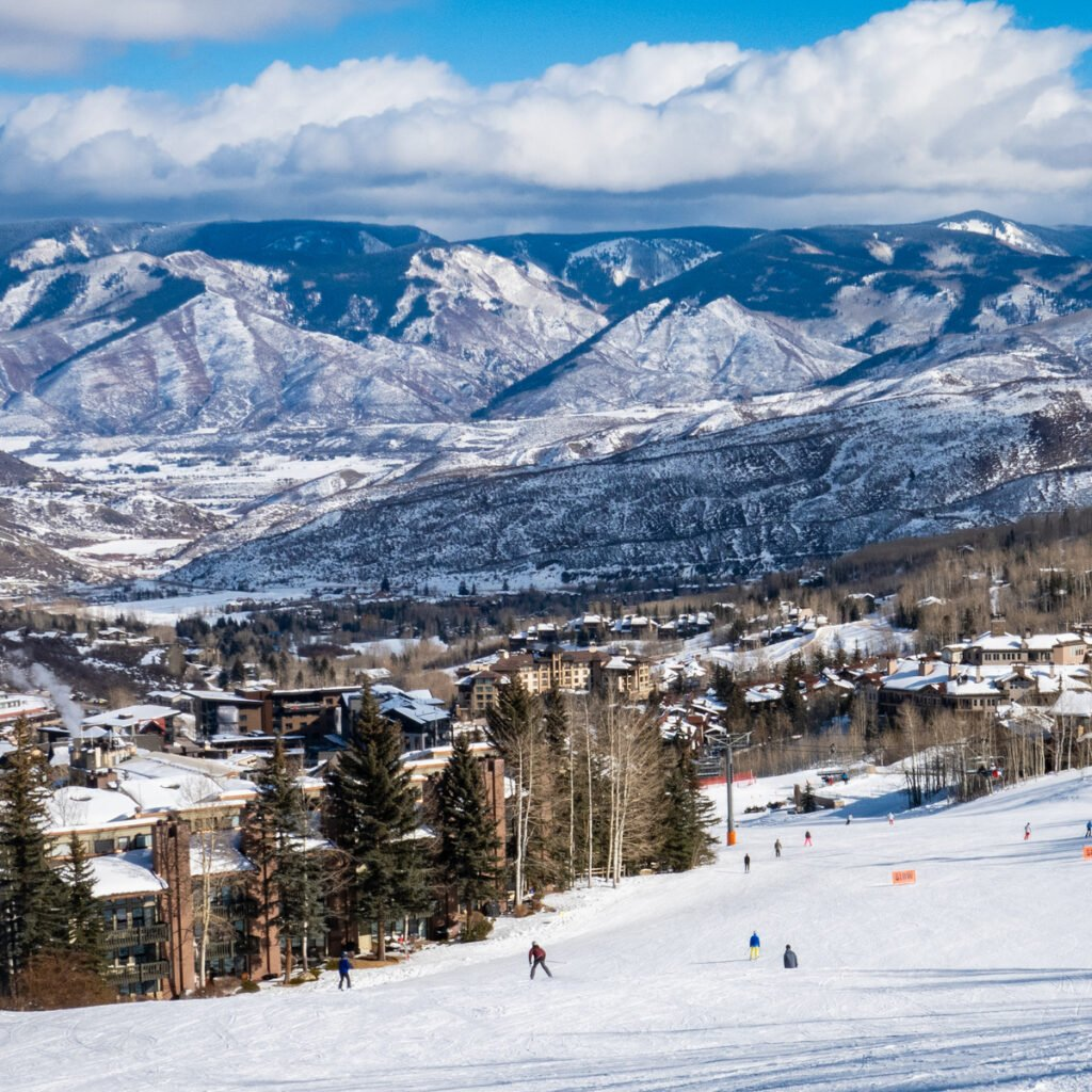 Learning to Ski at Aspen Snowmass ski resort.