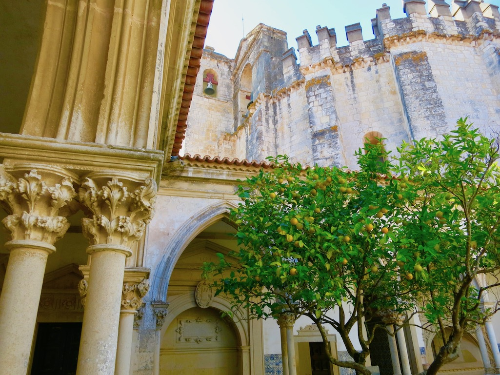 Lemon trees in the courtyard of Convento of Cristo in Tomar.