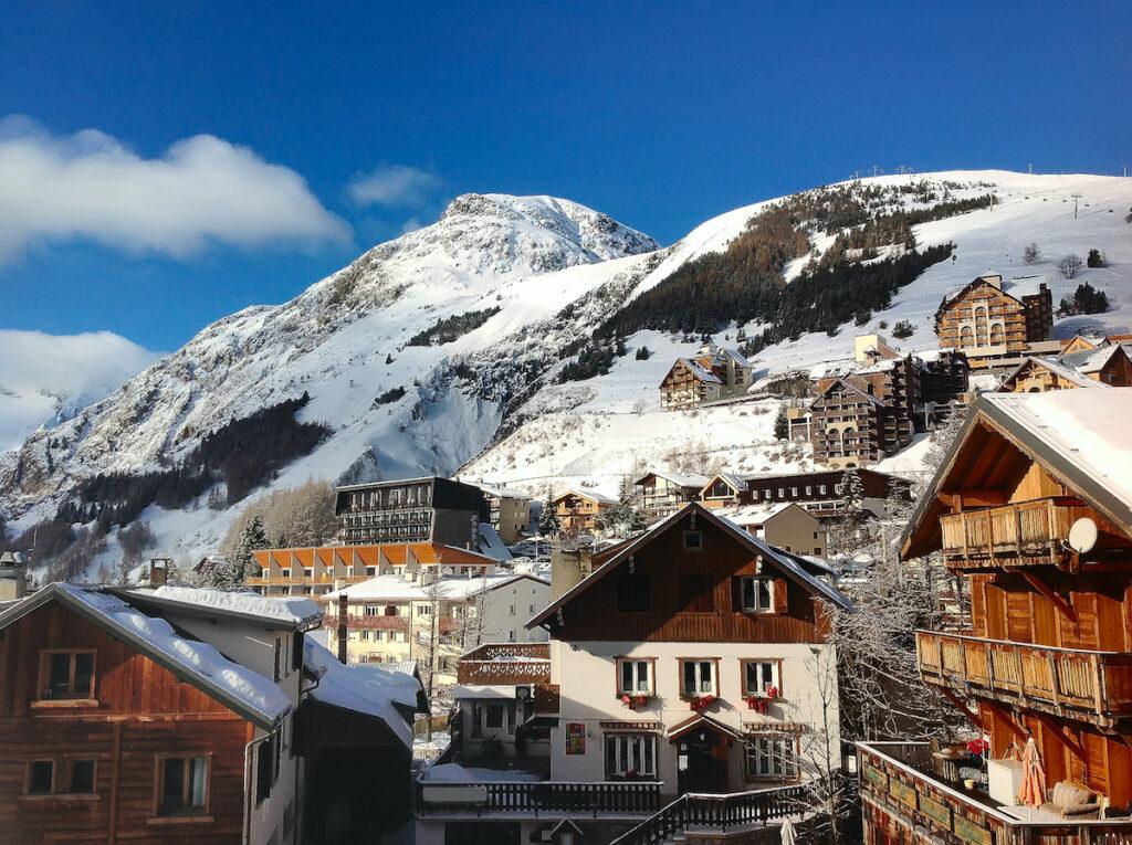 Les Deux Alpes, a ski resort in France.