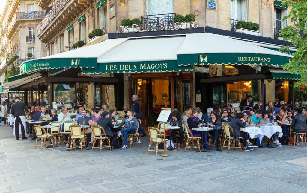 Les Deux Magots in Paris.
