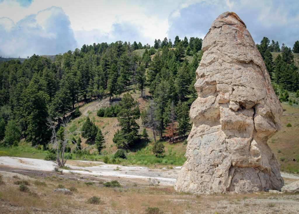 Liberty Cap in Yellowstone National Park.