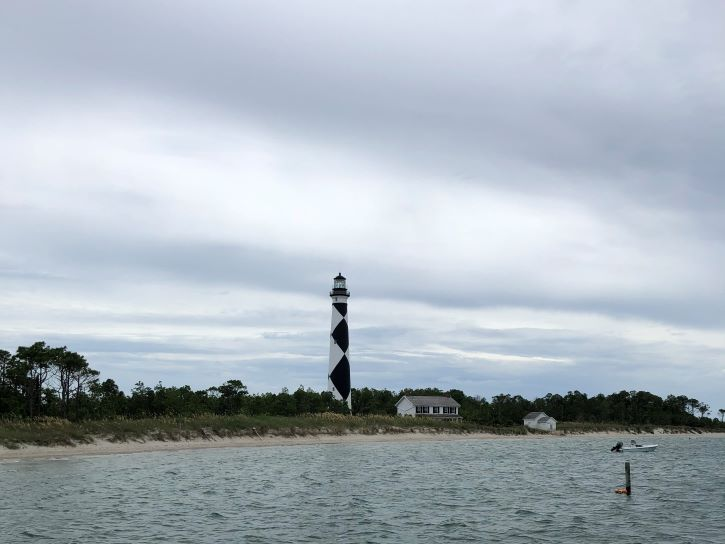 Lighthouse at Cape Lookout, North Carolina.