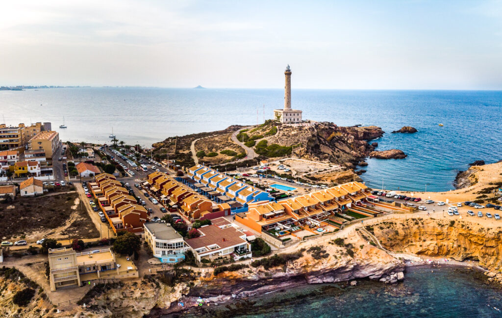 Lighthouse Cabo de Palos in Cartagena.