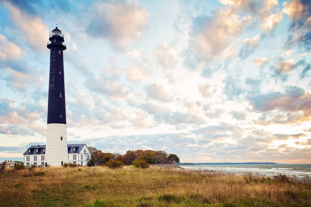 Lighthouse on the coast of Saaremaa, Estonia.