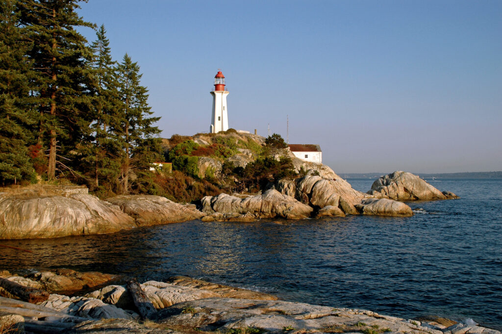 Lighthouse Park in Vancouver.