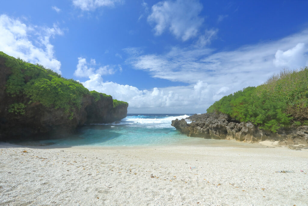 Lily Beach on Christmas Island.
